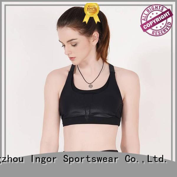 black tops sports bra INGOR Brand
