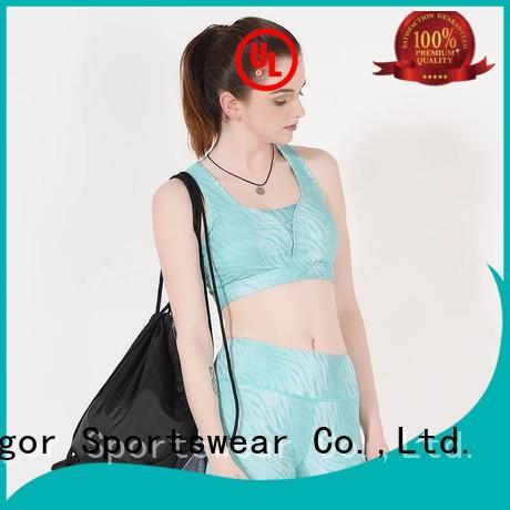 INGOR Brand grey back sports yoga sports bra