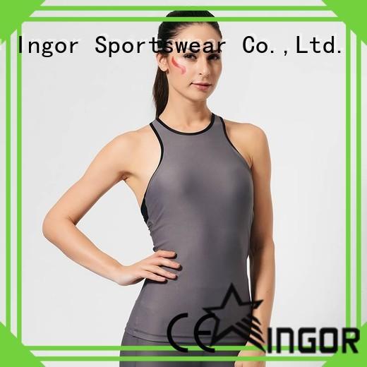 INGOR shirts crop tank with racerback design for women