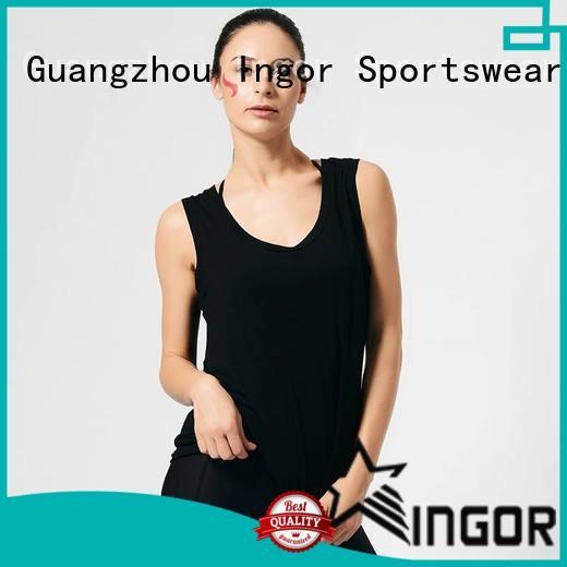 INGOR Brand plain womens running summer tank top