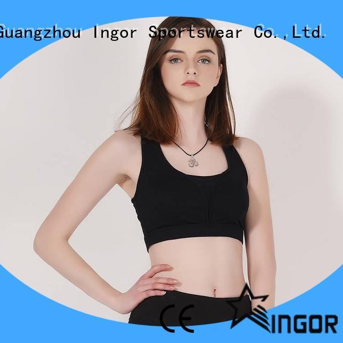 Quality sports bra with cross back design Y1911B01