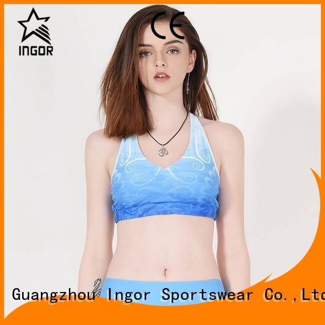 medium colorful sports bras activewear support INGOR Brand