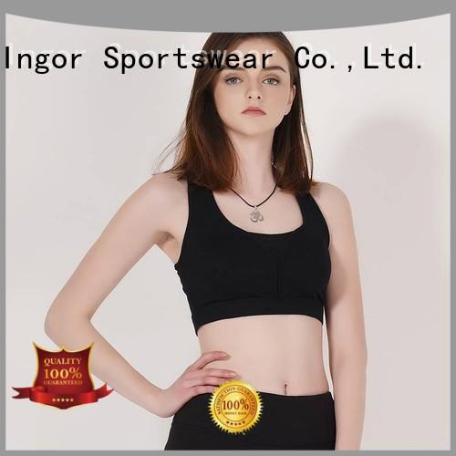 INGOR Brand padded strap purple sports bra manufacture