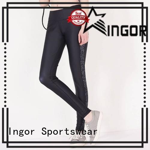 INGOR running green yoga leggings on sale for women