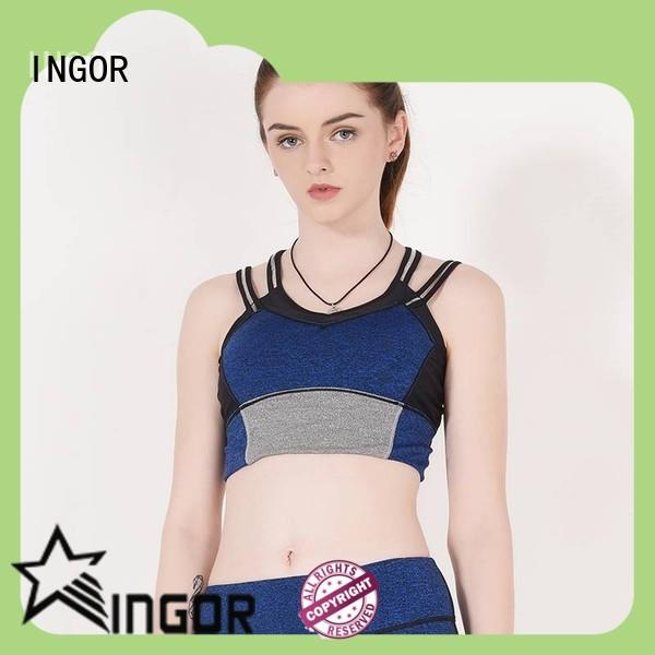 INGOR soft top rated sports bras with high quality for girls
