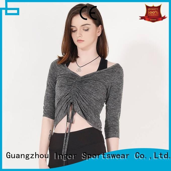 INGOR Brand design long sports custom sweatshirts for ladies