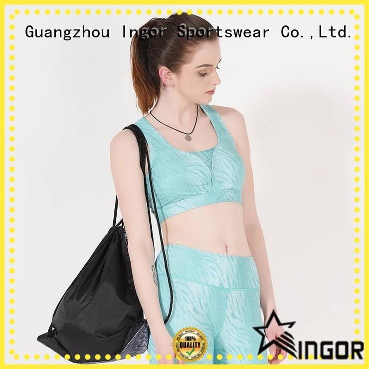 INGOR Brand red neck colorful sports bras strap