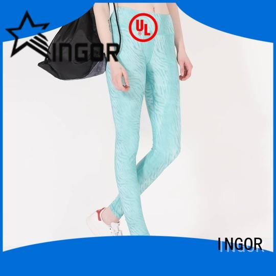 INGOR convenient ladies cropped leggings  plain for sport