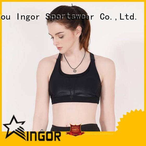 breathable pink red sports bra women with high quality for ladies