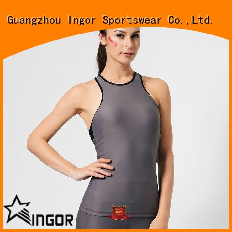 INGOR custom crop tank with high quality for ladies