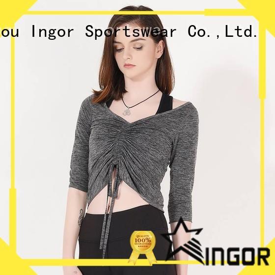 INGOR Brand sleeve yoga design sweatshirts for ladies