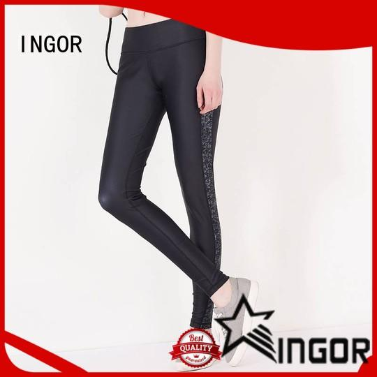 INGOR durability leggings with four needles six threads for girls
