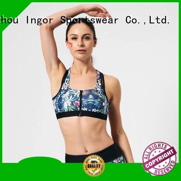 ingor Custom yoga sports bra neck INGOR