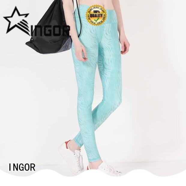 INGOR convenient olive yoga leggings with high quality
