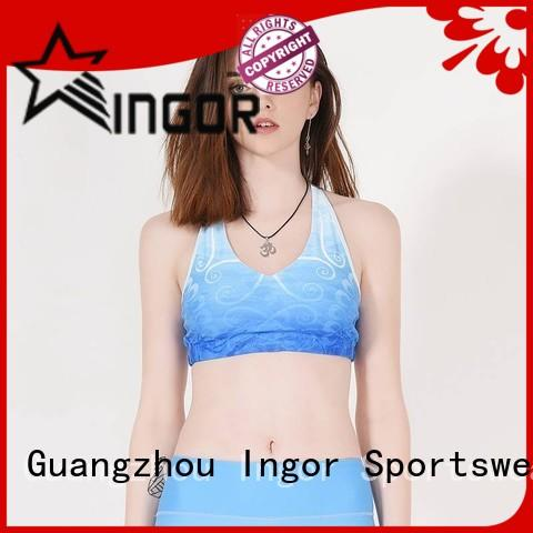 sexy green sports bra neck to enhance the capacity of sports for girls