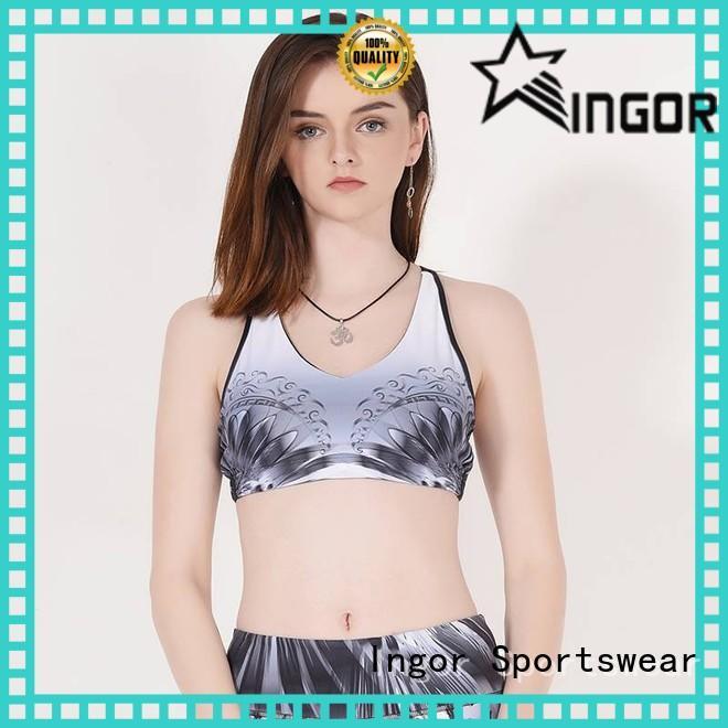 Patterned sports bra designer companies Y1912B03