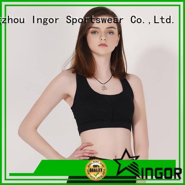 white black plain INGOR Brand colorful sports bras manufacture