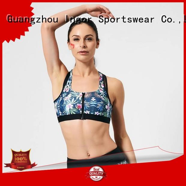 INGOR Brand neck womens colorful sports bras medium supplier