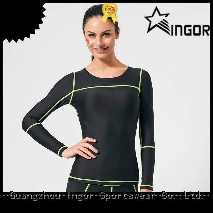 INGOR yoga Sports sweatshirts with drawstring design for ladies