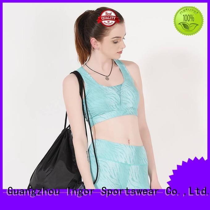 Quality INGOR Brand purple cross sports bra