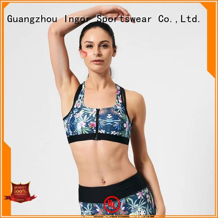 designer women colorful sports bras INGOR manufacture