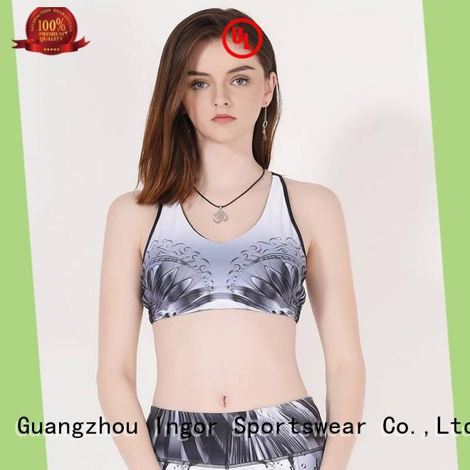 INGOR custom low impact sports bra to enhance the capacity of sports at the gym