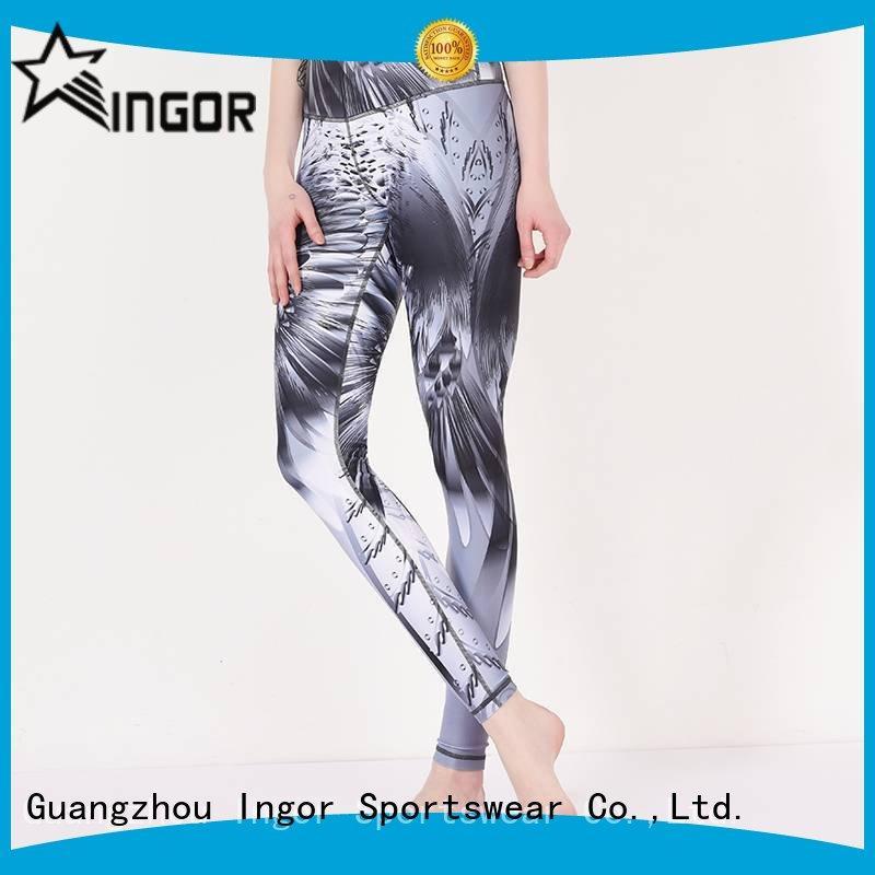 workout pants printed sports ladies leggings INGOR Brand