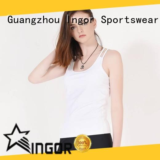 fashion women's black tank top with high quality for women INGOR