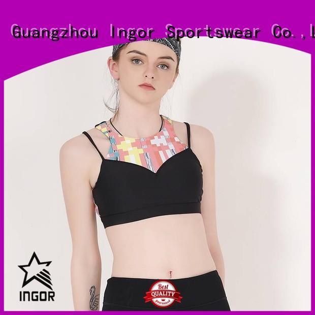 Hot colorful sports bras strap INGOR Brand
