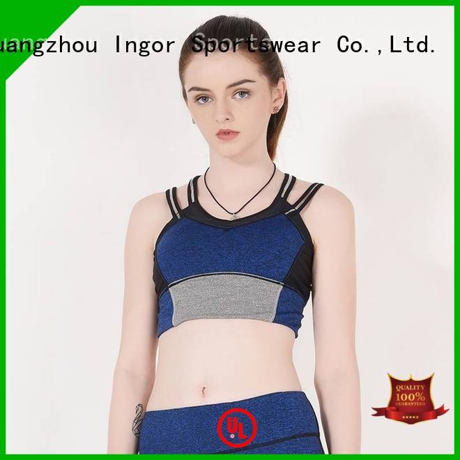 INGOR Brand medium plain colorful sports bras back supplier