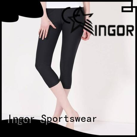 INGOR fitness yoga pants with four needles six threads at the gym