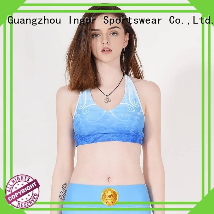 strap front racerback colorful sports bras INGOR manufacture