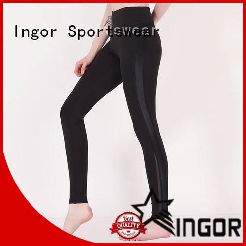 INGOR fitness yoga pants with four needles six threads for sport