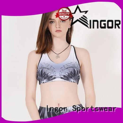 sexy black high neck sports bra neck to enhance the capacity of sports for girls
