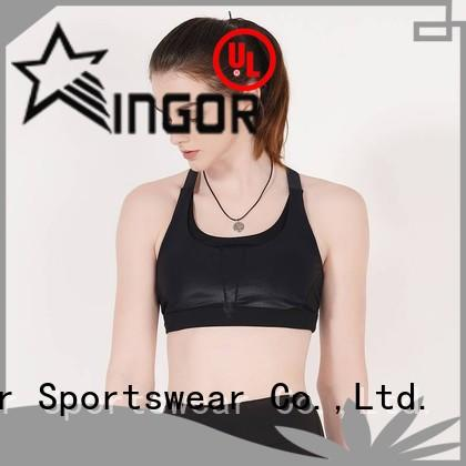 soft white and black sports bra sports with high quality for ladies