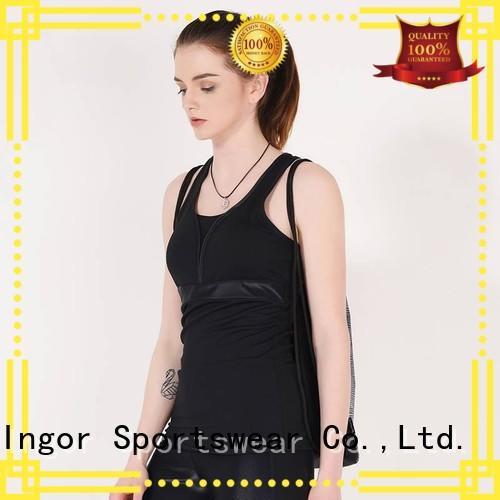 INGOR Brand bulk blank tight women's workout tank tops