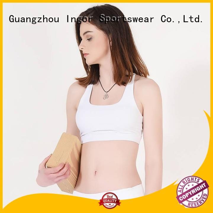 Wholesale strap plain sports bra INGOR Brand