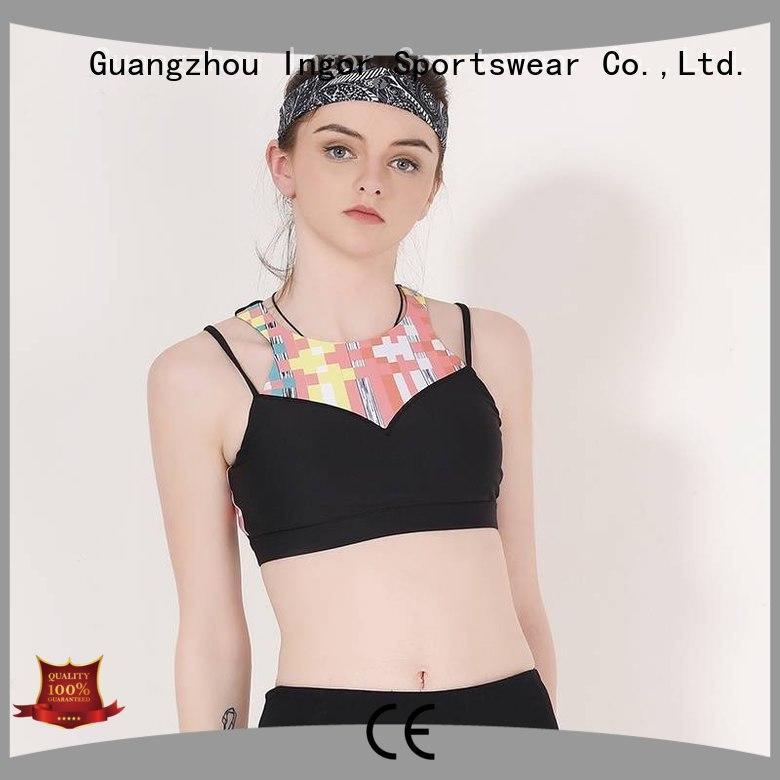 INGOR Brand designer patterned strappy sports bra