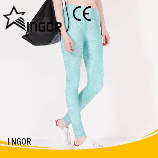 INGOR running teal yoga leggings with high quality