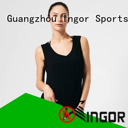 INGOR running crop tank with racerback design for yoga