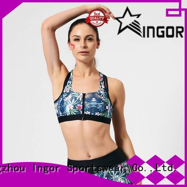 breathable cute strappy sports bras black with high quality for sport