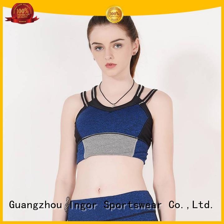 INGOR Brand performance colorful sports bras burgandy supplier