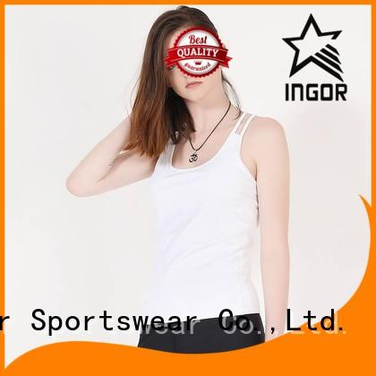 INGOR Brand design mesh women's workout tank tops loose