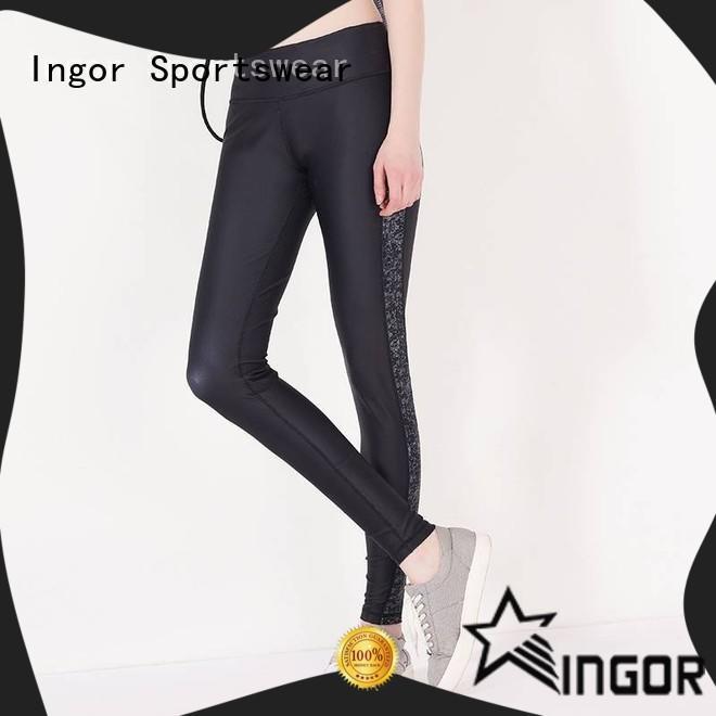 INGOR yoga leggings with four needles six threads for girls