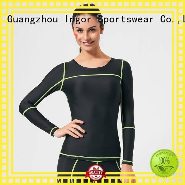 INGOR Brand sleeve sports custom sweatshirts for ladies