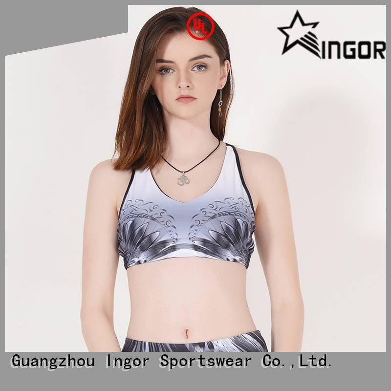 tops longline strappy OEM sports bra INGOR