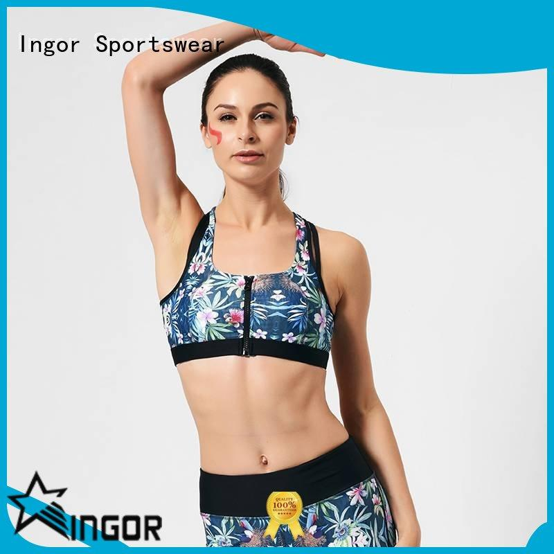 INGOR custom red white blue sports bra on sale for sport