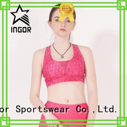 INGOR Brand racerback plain sports sports bra