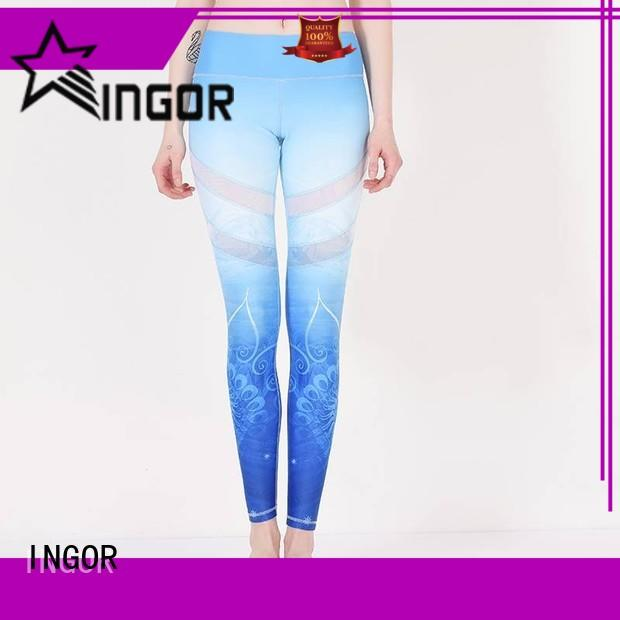 INGOR fitness patterned yoga leggings with high quality for girls