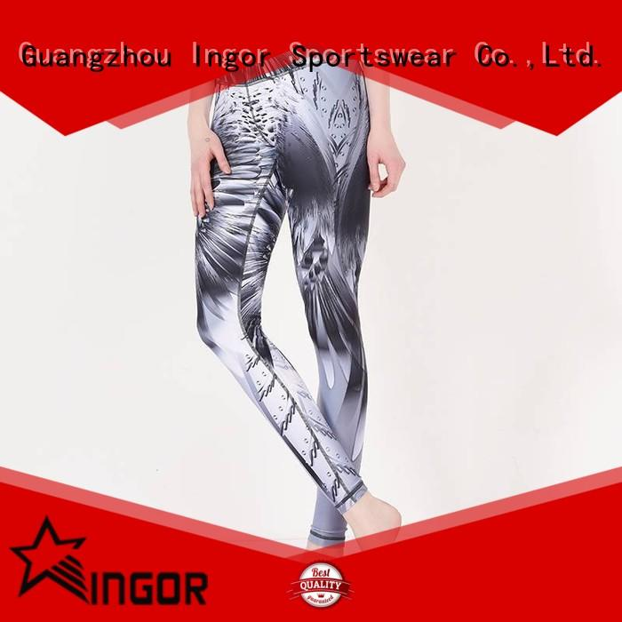 INGOR tie up yoga leggings with high quality